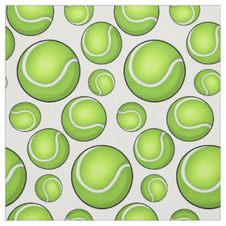 Scattered Tennis Balls Fabric