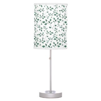 Scattered Watercolor Floral Seamless Pattern Table Lamp