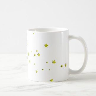 SCATTERED YELLOW STARS ACCENTS TEMPLATE BACKGROUND COFFEE MUGS
