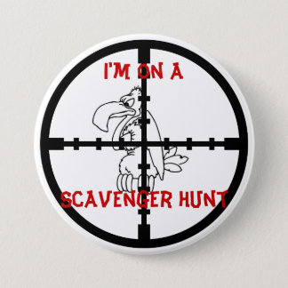 Scavenger Hunt 3 Inch Round Button