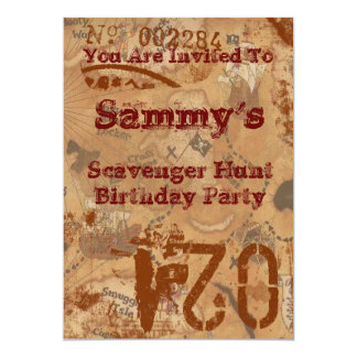 Scavenger Hunt Birthday Invite