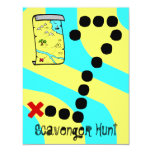Scavenger Hunt Map Party Theme Invitations