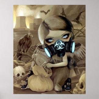 Scavengers ART PRINT cyberpunk goth vulture fairy