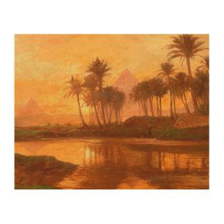 Scene Along the Nile Wood Wall Art
