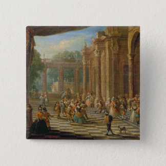 Scene at a Masked Ball 2 Inch Square Button