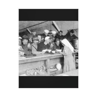 Scene at A.R.C. Canteen at the station_War image Canvas Print
