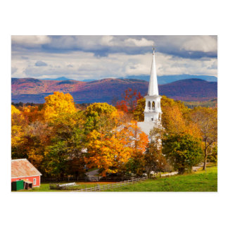 Scène d'automne dans Peacham, Vermont, Etats-Unis Carte Postale