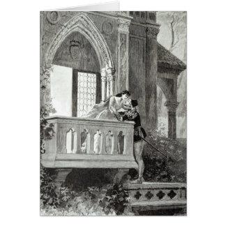 Scène de l'acte II de Romeo et de Juliet Carte De Vœux