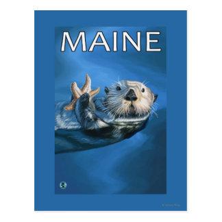 Scène de loutre de MaineSea Cartes Postales