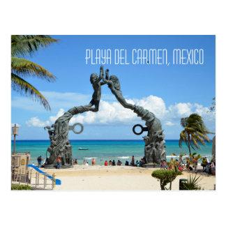 Scène de plage de mer des Caraïbes de Playa del Cartes Postales
