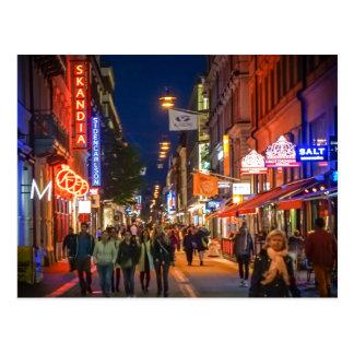 Scène de rue de Stockholm Suède Cartes Postales
