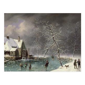 Scène d'hiver carte postale