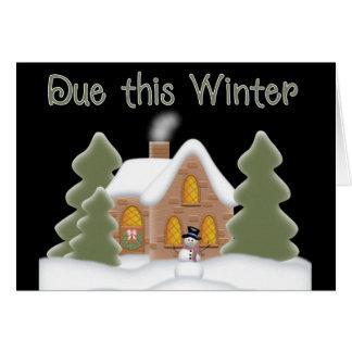 Scene Due this Winter Pregnancy Announce Card