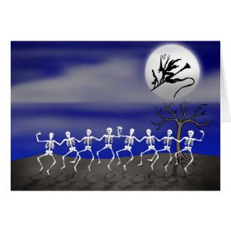 Scène éclairée par la lune de partie de Halloween Carte De Vœux