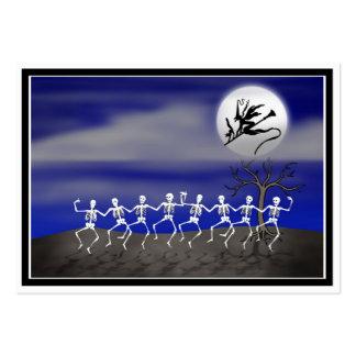 Scène éclairée par la lune de partie de Halloween Carte De Visite Grand Format