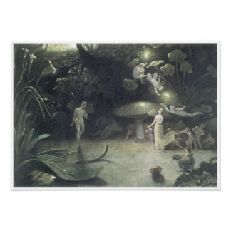 Scene from a Midsummer Night's Dream, 1832 Poster