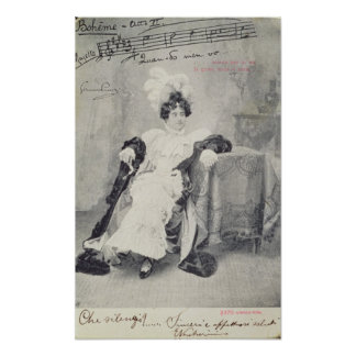 Scene from Act II of the opera 'La Boheme' Poster
