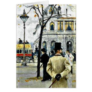 Scene from Copenhagen; Paul Gustave Fischer art Card