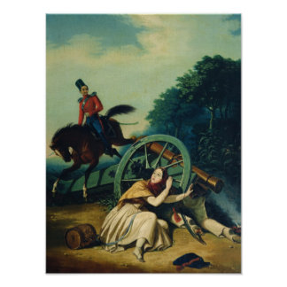 Scene from the 1812 Franco-Russian War, 1830s Poster