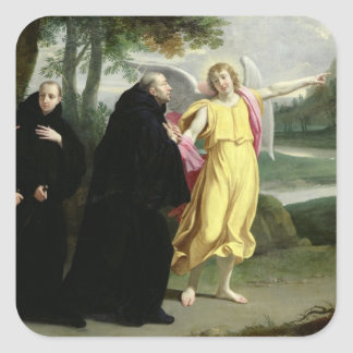 Scene from the Life of St. Benedict Square Sticker