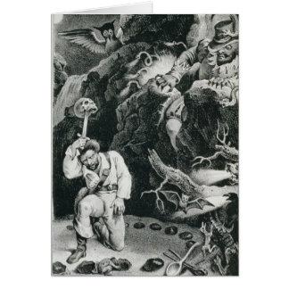 Scene from the opera 'Der Freischutz' Card