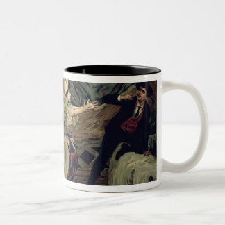 Scene from the opera 'Pagliacci' Two-Tone Coffee Mug