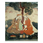 Scene galante from the era of Shah Abbas I Poster
