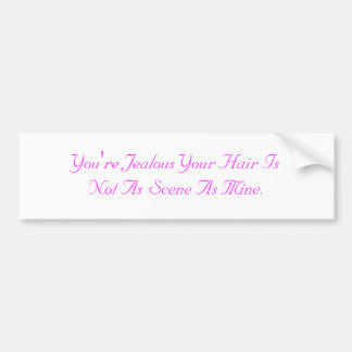 Scene Hair Bumper Sticker