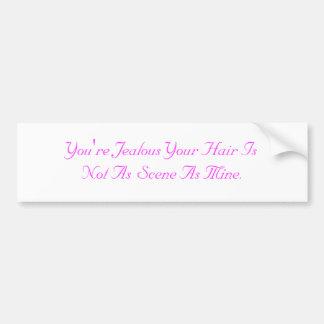 Scene Hair Bumper Sticker