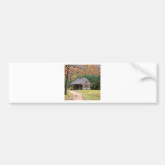 Scene Historic Log Cabin In Smoky Bumper Stickers