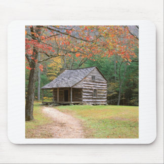 Scene Historic Log Cabin In Smoky Mouse Pad