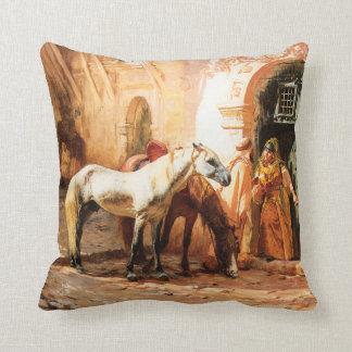 Scene in Morocco Throw Pillow