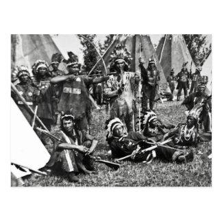Scène Iroquois de camp au Québec Cartes Postales