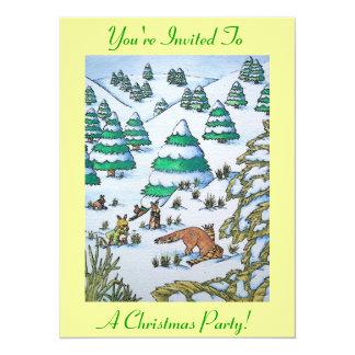 scène mignonne de neige de renard et de Noël de Bristols