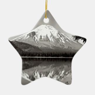 Scene Mount Saint Helens Spirit Lake Ceramic Ornament