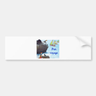 Scene of a distant place with boats and fauna bumper sticker