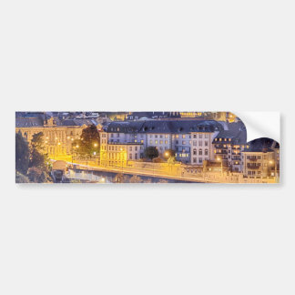 Scene of Fribourg with the night lights Bumper Sticker