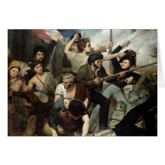 Scene of the 1830 Revolution Card