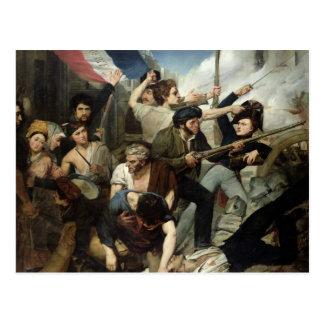 Scene of the 1830 Revolution Postcard