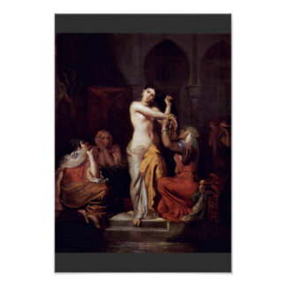Scene Of The Moorish Harem Lady In Bath Poster