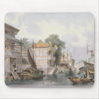 Scene on the Horan Canal near Canton, c.1850 (colo Mouse Pad
