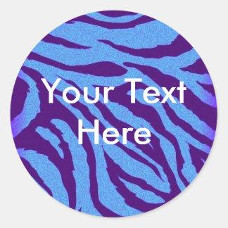Scene Queen Sticker - Indigo Zebra Print