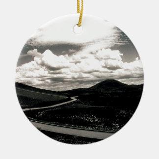 Scene Road Craters Of The Moon Ceramic Ornament