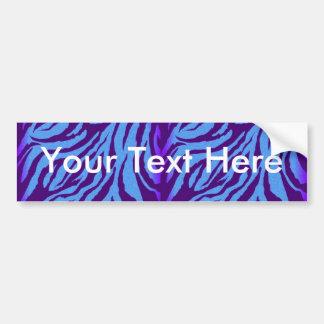 Scene Style Bumper Sticker - Indigo Zebra Print
