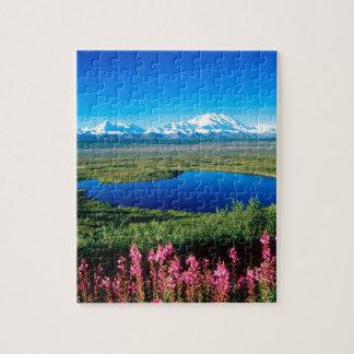 Scene Tundra Mount Mckinley Denali Alaska Jigsaw Puzzle