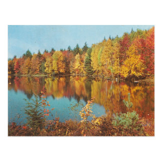 Scène vintage d'automne carte postale