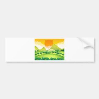 Scene with field and trees bumper sticker