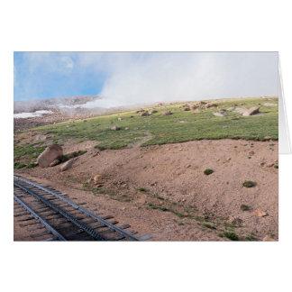 Scenery Along Historic Cog Railway Card