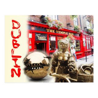 Scènes de Dublin, Irlande Cartes Postales