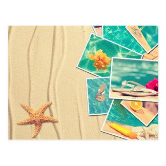 Scènes de plage carte postale